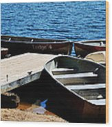 Lake Dock Wood Print