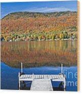 Lake Elmore Autumn Wood Print