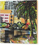 Lake Eola - Part 3 Of 3 Wood Print