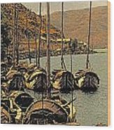 Lake Er Hai Boats Wood Print