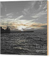 Lake Erie Lights Wood Print