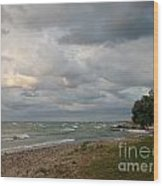 Lake Erie Shore Line II Wood Print