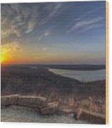 Lake Eufaula Sunrise A Wood Print