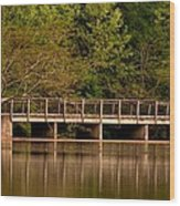Lake Forest Bridge Wood Print