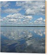 Lake Full Of Clouds Wood Print