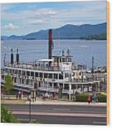 Lake George Cruise Wood Print
