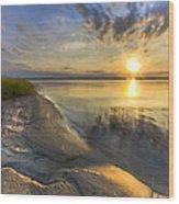 Lake Glow Wood Print