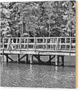 Lake Greenwood Pier Wood Print