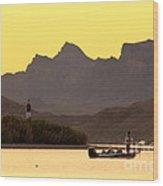 Lake Havasu Fisherman Wood Print