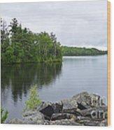 Lake Hebron Wood Print
