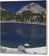 Lake Helen At Mt Lassen Triptych Wood Print by Peter Piatt