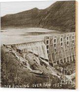 Lake Hodges And Dam San Diego County California  1952 Wood Print