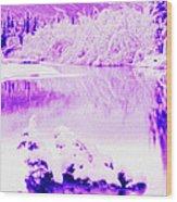 Lake And Ice Wood Print