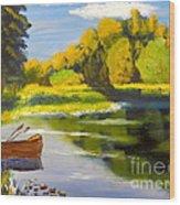 Lake Illawarra At Primbee Wood Print
