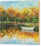 Lake Impression Wood Print