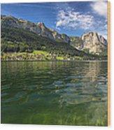 Lake In High Mountains Wood Print
