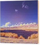 Lake In Rano Raraku Crater Wood Print