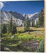 Lake Isbelle Mountains Wood Print
