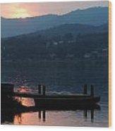 Lake J Sunset Wood Print