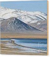 Lake Kara Kul Wood Print