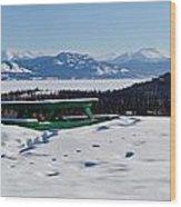 Lake Laberge Yukon Territory Canada In Winter Wood Print