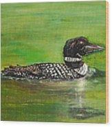Lake Loon Wood Print