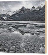 Lake Louise - Black And White #2 Wood Print