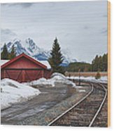 Lake Louise Depot Wood Print