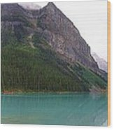 Panoramic Lake Louise, Alberta - Morning Reflections Wood Print