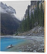 Lake Louise North Shore - Canada Rockies Wood Print by Daniel Hagerman