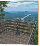 Lake Lure Overlook Wood Print