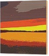 Lake Macatawa Sunset Wood Print