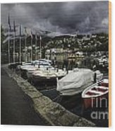 Lake Maggiore Boats 1 Wood Print