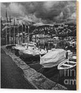 Lake Maggiore Bw 1 Wood Print