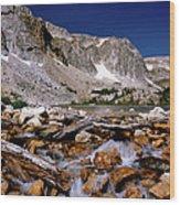 Lake Marie Snowy Range Wood Print