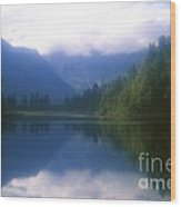 Lake Matheson In New Zealand's Westland National Park Wood Print