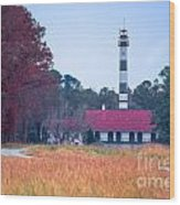 Lake Mattamuskeet Pumping Station Wood Print