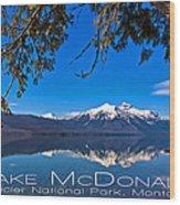 Lake Mcdonald Wood Print