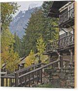 Lake Mcdonald Lodge In Glacier National Park Wood Print