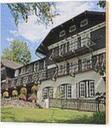 Lake Mcdonald Lodge Wood Print