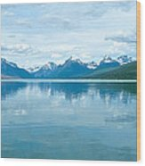 Lake Mcdonald Reflection In Glacier  National Park-montana Wood Print