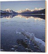 Lake Mcdonald Winter Wood Print