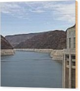 Lake Mead Seen From The Hoover Dam Wood Print