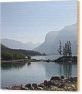 Lake Mennewanka Wood Print by Carolyn Ardolino