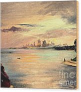 Lake Michigan Chicago Skyline 1952 Wood Print