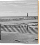 Lake Michigan Don't Fence Me In Wood Print by Rosemarie E Seppala