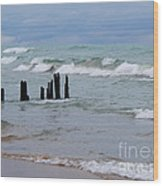 Lake Michigan Green Wood Print