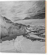 Lake Michigan Ice Iv Wood Print