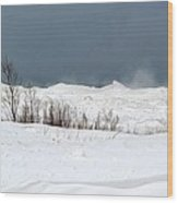 Lake Michigan Ice Wood Print