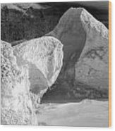 Lake Michigan Ice Viii Wood Print